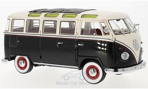 Volkswagen T1 B 1/18 Schuco Samba black/white 1959 diecast