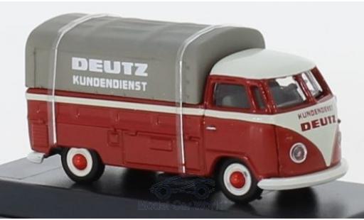 Volkswagen T1 1/87 Schuco b Pritsche Deutz Kundendienst mit Plane diecast