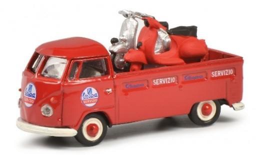 Volkswagen T1 1/87 Schuco b Pritsche Servizio Vespa avec charge miniature