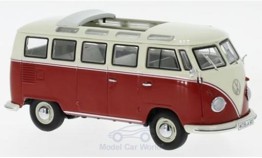 Volkswagen T1 B 1/43 Schuco b Samba Bus red/beige diecast