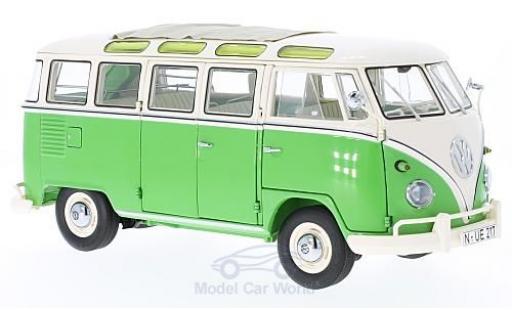 Volkswagen T1 B 1/18 Schuco b Samba verte/beige miniature