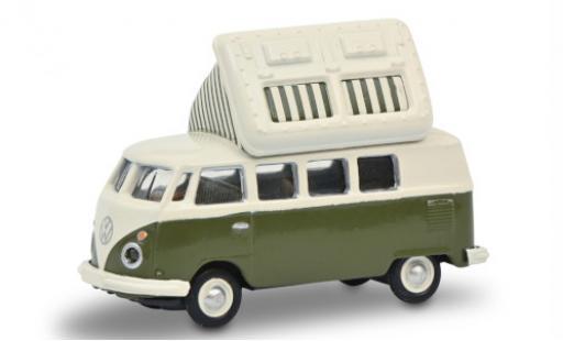 Volkswagen T1 1/87 Schuco c Camper verte/blanche miniature