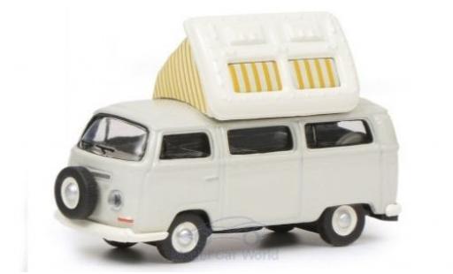 Volkswagen T2 1/87 Schuco a Campingbus grise/blanche mit geöffnetem Dach miniature