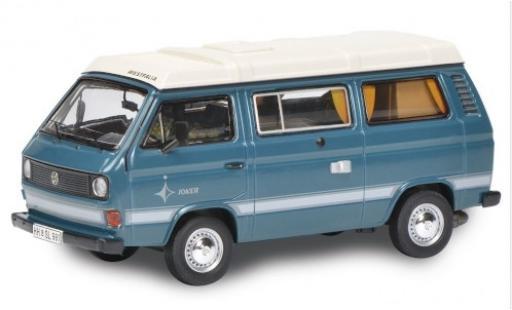 Volkswagen T3 1/64 Schuco Westfalia Joker blue/white diecast model cars