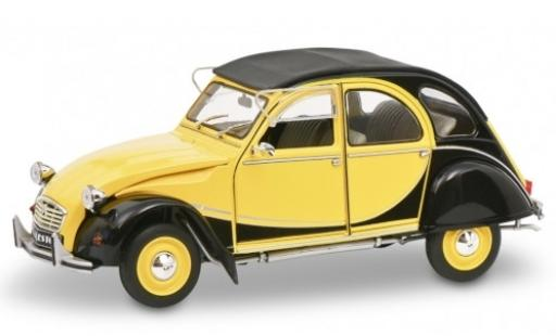 Citroen 2CV 1/18 Solido 6 Charlston yellow/black diecast model cars