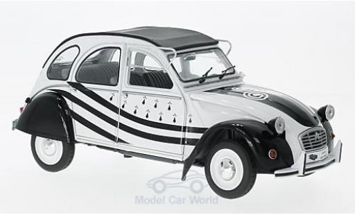 Citroen 2CV 1/18 Solido 6 blanche/noire 1978 miniature