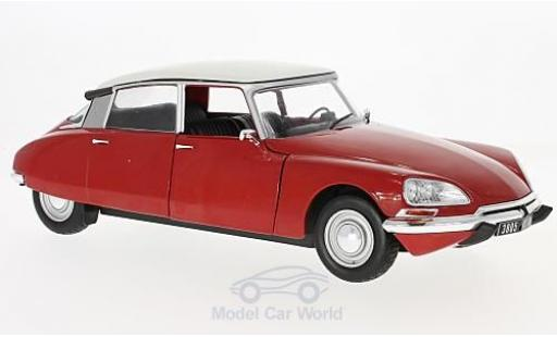Citroen DS 19 1/18 Solido red/white 1972 diecast