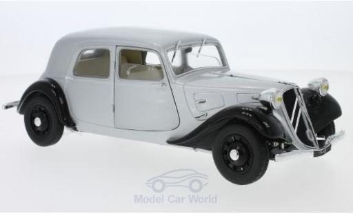 Citroen Traction 1/18 Solido 11CV grise/noire 1937 miniature