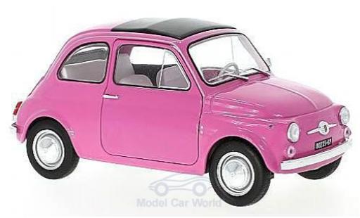 Fiat 500 L 1/18 Solido pink 1969 diecast model cars