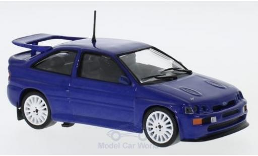 Ford Escort 1/43 Solido  Cosworth metallic-bleue 1992 miniature