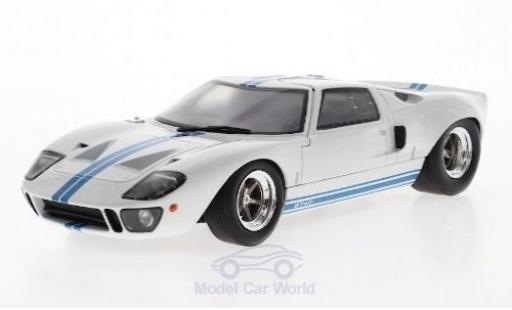 Ford GT40 1/18 Solido MK I blanche/bleue 1968 miniature