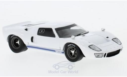 Ford GT40 1/43 Solido blanche RHD 1966 miniature