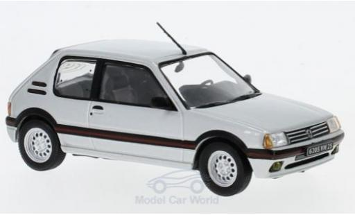 Peugeot 205 GTI 1/43 Solido GTi 16 grey diecast model cars