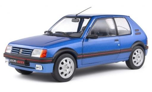 Peugeot 205 1/18 Solido GTI 1.9 metallise bleue 1988