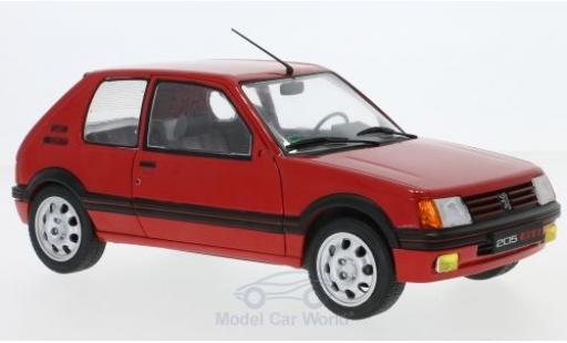 Peugeot 205 GTI 1/18 Solido 1.9 rouge 1988 miniature