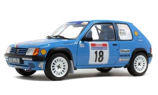 Peugeot 205 1/18 Solido Rallye No.18 Talbot Sport S Tour de Corse 1990 G.Chollier/H.Vericel miniature