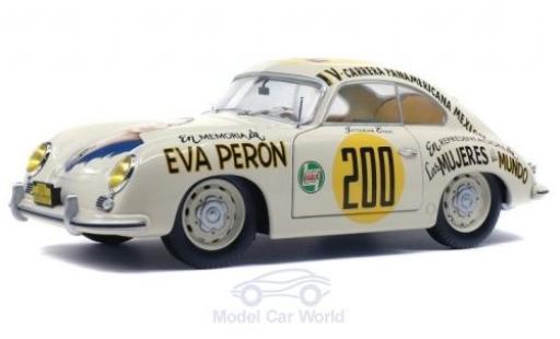 Porsche 356 1/18 Solido Pre-A No.200 Eva Peron Carrera Panamericana 1953 J.Evans miniature