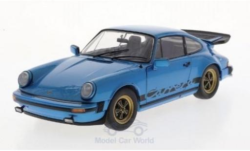 Porsche 911 1/18 Solido (930) Carrera 3.0 métallisé bleue 1984 miniature