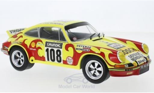 Porsche 911 1/18 Solido RSR No.108 Sonauto Tour de France Auto 1973 C.Ballot-Lena/J.C.Morenas miniature