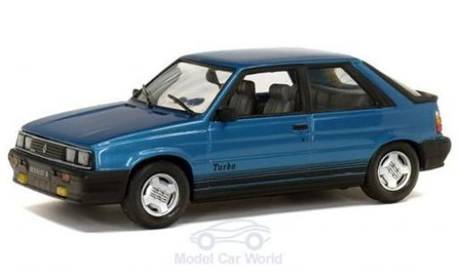 Renault 11 1/43 Solido Turbo metallise blue 1985 diecast model cars