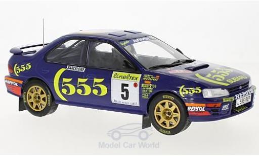 Subaru Impreza 555 1/18 Solido No.5 555 Rallye WM Rallye Monte Carlo 1995 C.Sainz/L.Moya miniature