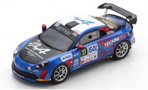 Alpine A110 1/43 Spark Rally No.37 Rallye Mont-Blanc Morzine 2020 E.Guigou/A.Coria diecast model cars