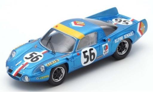 Alpine A210 1/43 Spark No.56 Société des Automobiles Renault 24h Le Mans 1968 J.L.Marnat/J-F.Gerbault diecast model cars