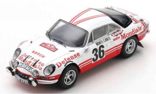 Alpine A110 1/43 Spark Renault 1600 S No.36 Defense Mondiale Rally Monte Carlo 1973 B.Wollek/P.Thimonier diecast model cars