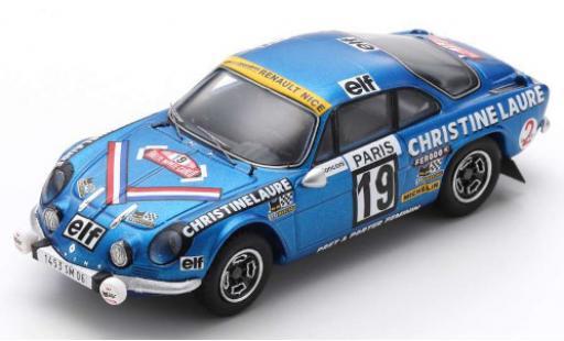 Alpine A110 1/43 Spark Renault 1600 SC No.19 Christine Laure Coupes des Dames Rally Monte Carlo 1976 M.Mouton/F.Conconi miniature