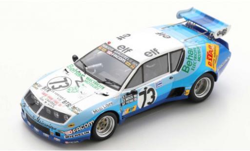 Alpine A310 1/43 Spark Renault No.73 Test Le Mans 1978 D.Morin/G.de Saint Pierre miniature