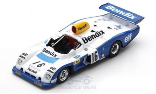 Alpine A442 1/43 Spark Renault RHD No.16 Bendix 24h Le Mans 1977 D.Pironi/R.Arnoux/G.Frequelin miniature