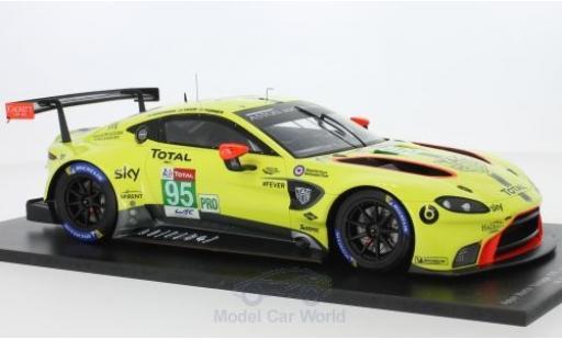 Aston Martin Vantage 1/18 Spark GTE No.95 Racing 24h Le Mans 2018 M.Sorensen/N.Thiim/D.Turner diecast model cars