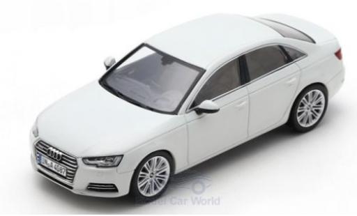 Audi A4 1/43 Spark blanche 2016 miniature