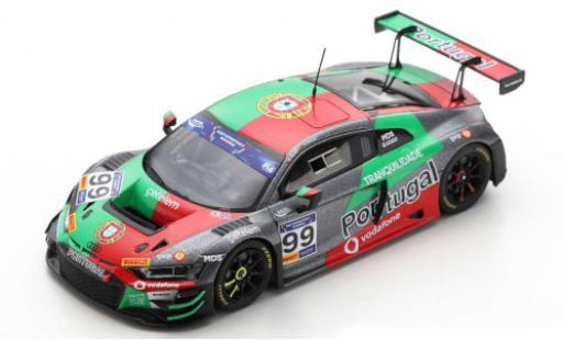 Audi R8 1/43 Spark LMS GT3 No.99 Team Portugal FIA Motorsport Games GT Cup Vallelunga 2019 M.Ramos/H.Chaves diecast model cars