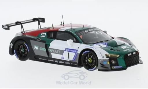 Audi R8 1/43 Spark LMS No.1 Sport Team Land 24h Nürburgring 2018 C.Mies/K.van der Linde/S.van der Linde/R.Rast modellino in miniatura