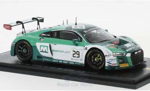 Audi R8 1/43 Spark LMS No.29 Montaplast by Land-Motorsport 24h Spa 2018 K.van der Linde/S.van der Linde/J.Schmidt miniatura