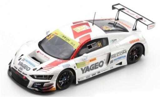 Audi R8 1/43 Spark LMS No.31 Sport Team Rutronik Yageo Fia GT World Cup Macau 2019 K.van le Linde diecast model cars