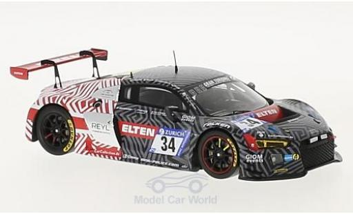Audi R8 1/43 Spark LMS No.34 Car Collection Motorsport 24h Nürburgring 2017 R.Saurenmann/L.Rocco/K.Koch/J-E.Slooten diecast