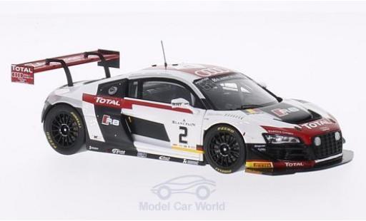 Audi R8 1/43 Spark LMS Ultra No.2 Belgian Club Team 24h Spa 2014 M.Fässler/A.Lotterer/B.Treluyer miniatura