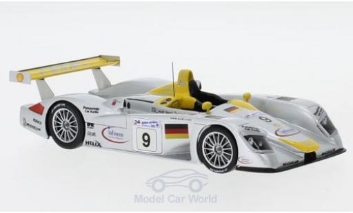 Audi R8 1/43 Spark No.9 24h Le Mans 2000 S.Ortelli/A.McNish/L.Aiello miniature