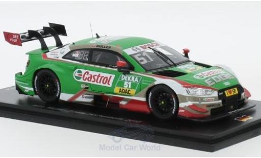 Audi RS5 DTM 1/43 Spark RS 5 No.51 Sport Team Abt Sportline Castrol Hockenheim 2018 N.Müller diecast model cars