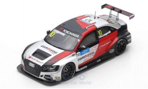 Audi RS3 1/43 Spark LMS No.10 comtoyou Team Sport WTCR Slovakia Ring 2019 N.Langeveld coche miniatura
