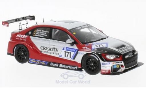 Audi RS3 1/43 Spark LMS No.171 Bonk Motorsport 24h Nürburgring 2017 M.Bonk/V.Piepmeyer/A.Burghardt/A.Möntmann diecast model cars