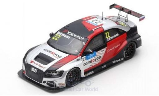 Audi RS3 1/43 Spark LMS No.22 comtoyou Team Sport WTCR Slovakia Ring 2019 F.Vervisch