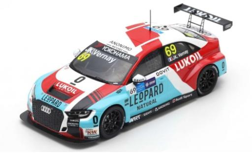 Audi RS3 1/43 Spark LMS No.69 Lukoil WTCR Macau Guia Race 2018 J-K.Vernay diecast model cars