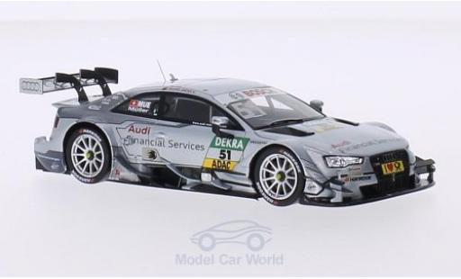 Audi RS5 DTM 1/43 Spark No.51 Sport Team Rosberg Financial Services 2015 N.Müller diecast model cars
