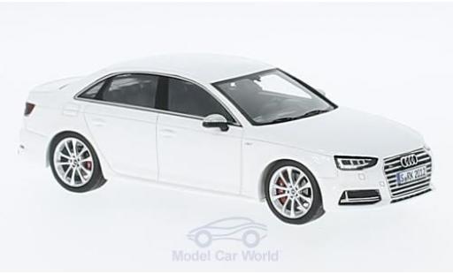 Audi S4 1/43 Spark weiss 2016 modellautos