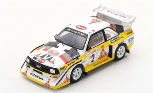 Audi Sport Quattro 1/43 Spark Sport quattro S1 E2 No.2 HB Team HB Rally Monte Carlo 1986 W.Röhrl/C.Geistdörfer diecast model cars