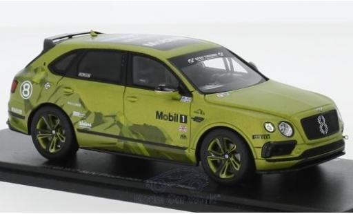 Bentley Bentayga 1/43 Spark No.8 Pikes Peak Hill Climb 2018 SUV Production Record Time 10:49.902 R.Millen/C.Facetti diecast
