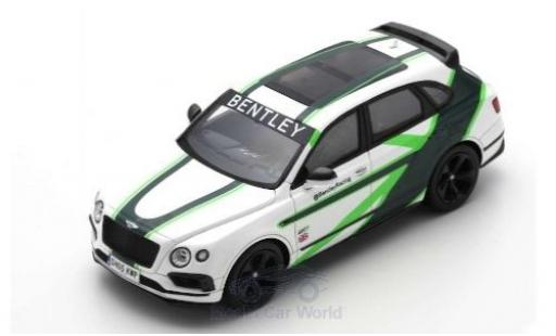 Bentley Bentayga 1/43 Spark blanche/Dekor 2019 GT3 Demonstrationsfahrzeug 24h Nürburgring miniature